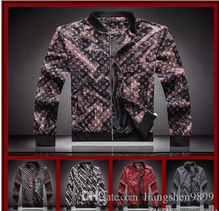18ss Luxury Designer Fashion Mens Motorcycle Coat Turn-down Collar Slim Casual Male Denim Jacket Blue Top Sale Mens Jackets Size M-3XL
