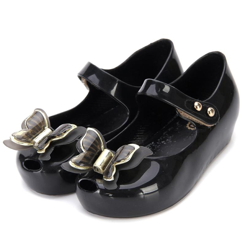 Mini Butterfly Kids Shoes Children Jelly Sandals Soft Bottom Princess Girl 2020 New Summer Girls sandals