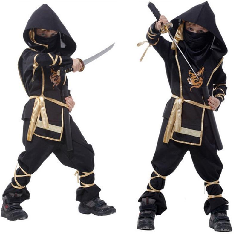 Kids Ninja Costumes Halloween Party Boys Girls Warrior Stealth Children's Day Cosplay Assassin Costume