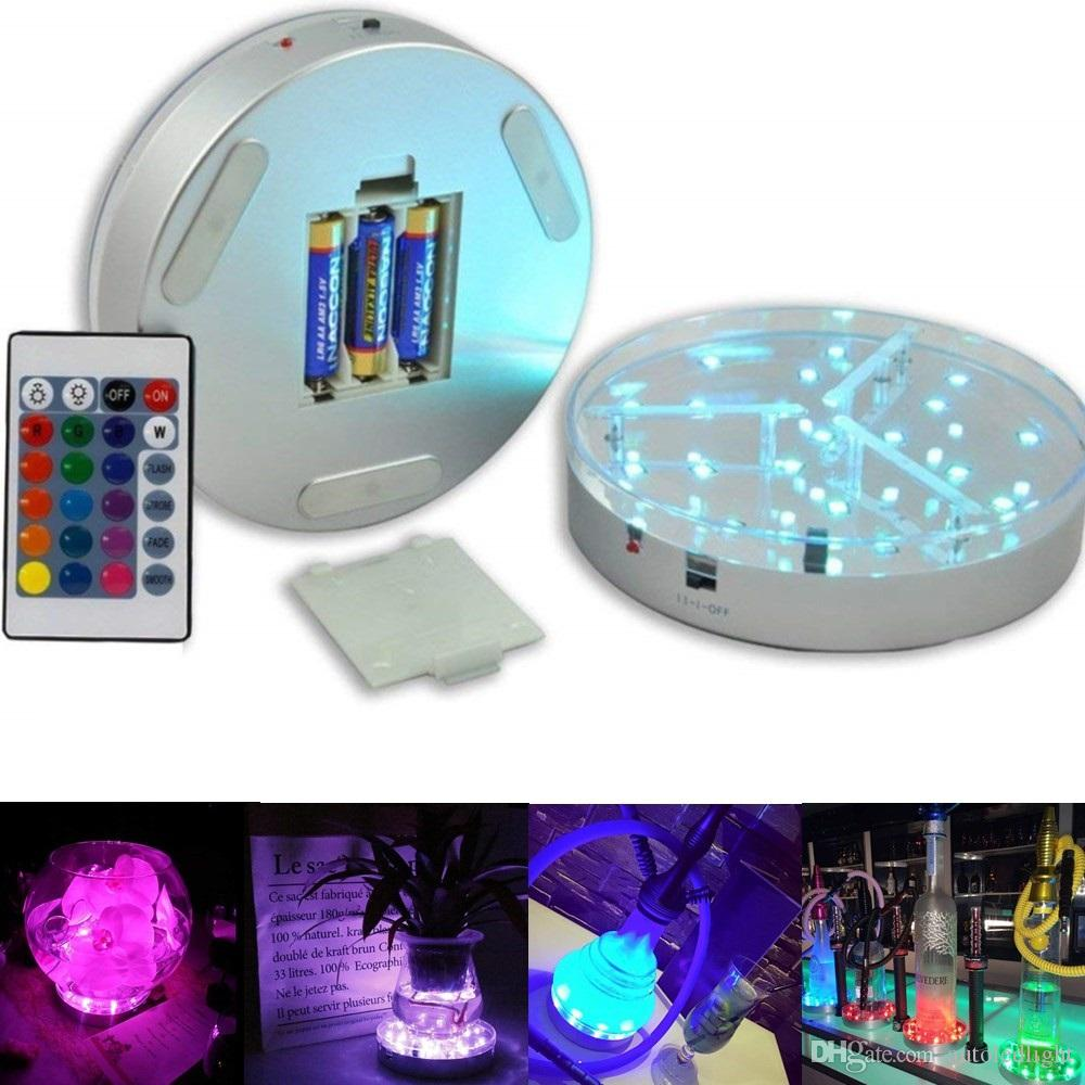 Multi-colors 6inch LED Display Light 15CM Table Led Vase Light Base with Remote Control Party Wedding Centerpieces Decoration lighting