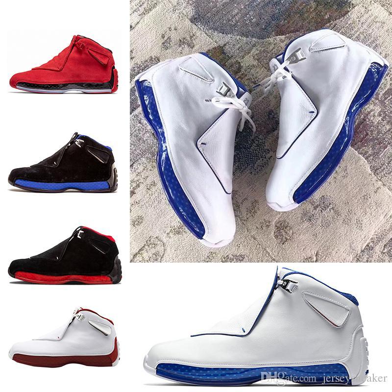 Scarpe da pallacanestro economiche 18 18s da uomo Toro OG ASG Nero Bianco Rosso Bred Royal Blue Sport Sneakers da ginnastica outdoor designer