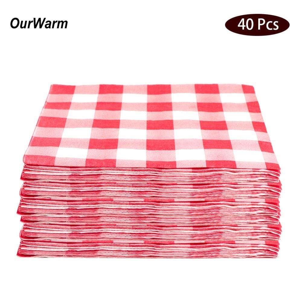 Acheter Ourwarm Serviettes En Papier De Mariage Jetable Partie