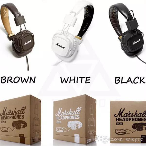 حار بيع سماعات مارشال الرئيسية استنساخ مع مايكروفون ديب باس دي جي هاي فاي سماعة أذن سماعة المهنية DJ مراقب سماعة