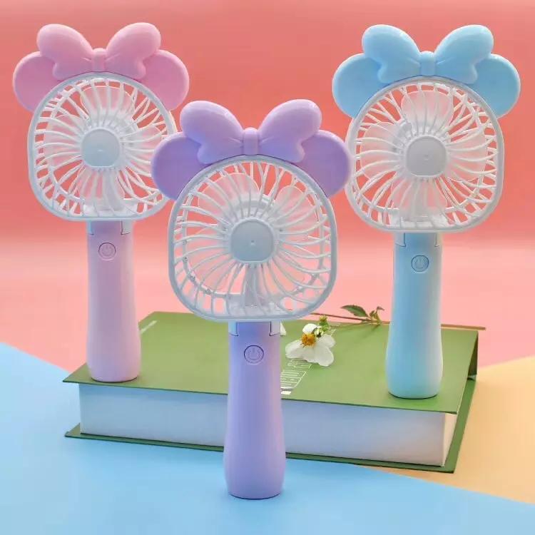 Mini Folding Portable Cartoon Fan USB Rechargeable Handheld Air Cooler Cooling Fan Kids Gifts Toys FFA174 30PCS