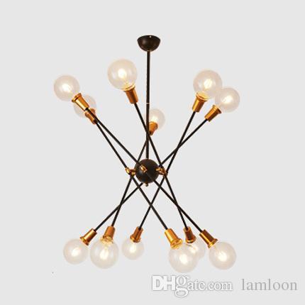 Moderno frijol mágico led luces colgantes iluminación de araña creativo del norte de Europa restaurante sala de estar diseñadores de arte lámparas colgantes