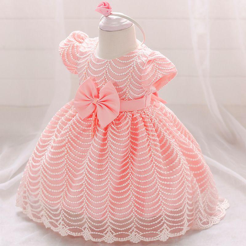 طفلة ملابس الزفاف فستان للبنات التعميد الأميرة اللباس الرضع 2 1 سنة عيد ميلاد فتاة حزب اللباس 6 12 أشهر