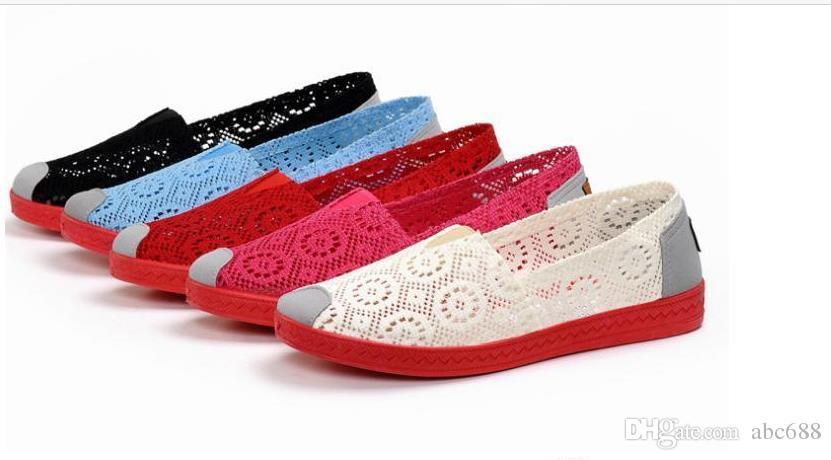 CALIENTE Nuevos zapatos de mujer moda mujer Zapatos planos coloridos Pisos de alta calidad zapatos perezosos primavera verano
