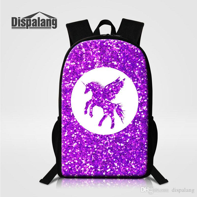 16 Inch Multifunction Backpacks Brand Designer School Bags For Teenage Girls Boys Cartoon Unicorn Printing Bookbags Mochilas Men's Rucksack