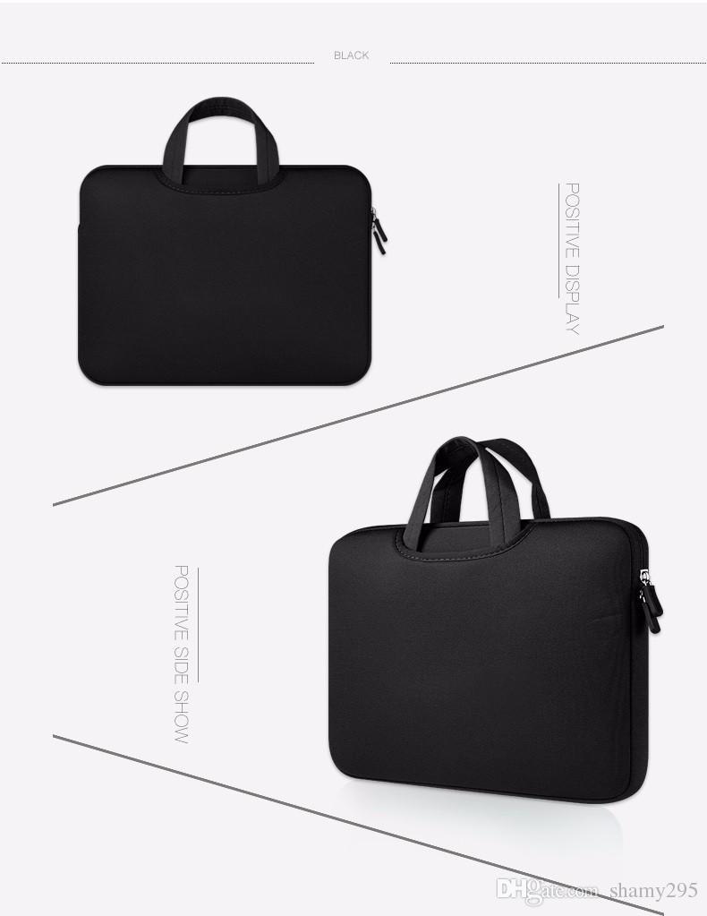 شحن مجاني 11 13 15 15.6 بوصة محمول حقيبة القضية ل macbook air 13 برو الشبكية 15 أكياس دفتر 12  14  جودة عالية 2018 مبيعات ساخنة جديدة