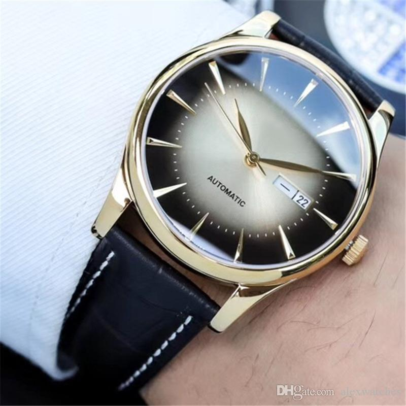 Famous Original logo Brand Mens Watches Stainless Steel Rose Gold Watch Automatic Movement Wrist Watch Fashion Casual Clock L50
