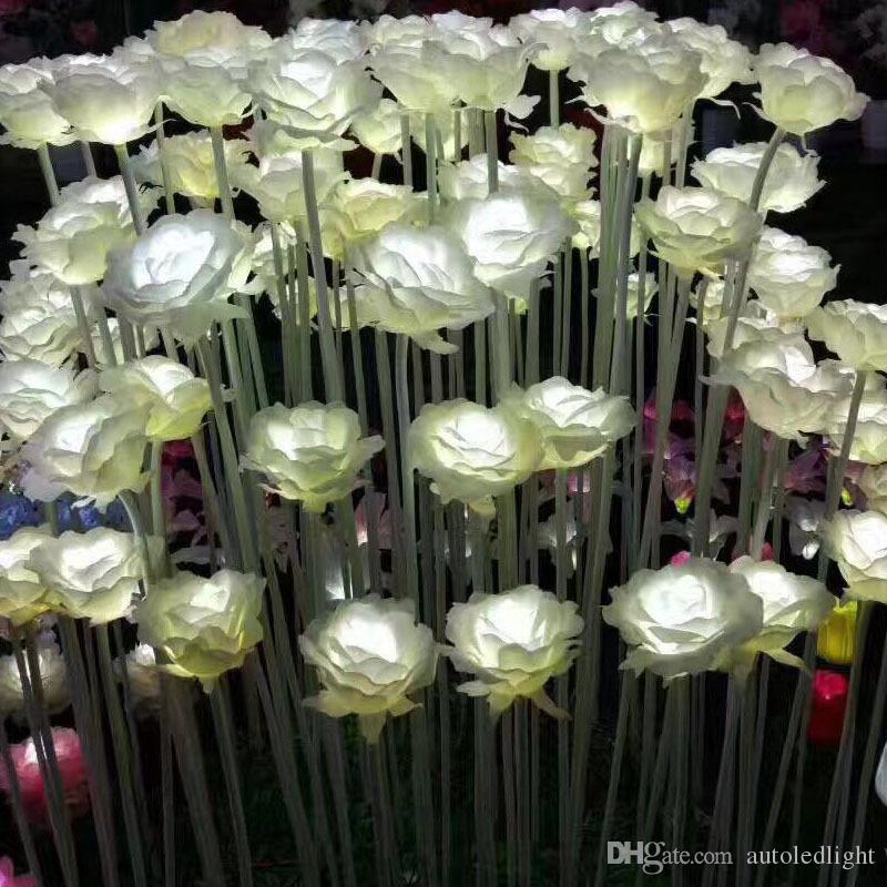 الصمام فانوس أضواء الحلم المعرض الصمام الورود الزهور الملونة عيد الحب في الهواء الطلق في الهواء الطلق ساحة المشهد حديقة التألق أضواء عطلة 20pcs / lot