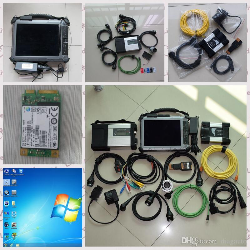 2in1 Diagnostic-Tool for MB Star C5 for BMW Icom Next With IX104 Tablet i7 4g with 2 minissd for Cars and Trucks