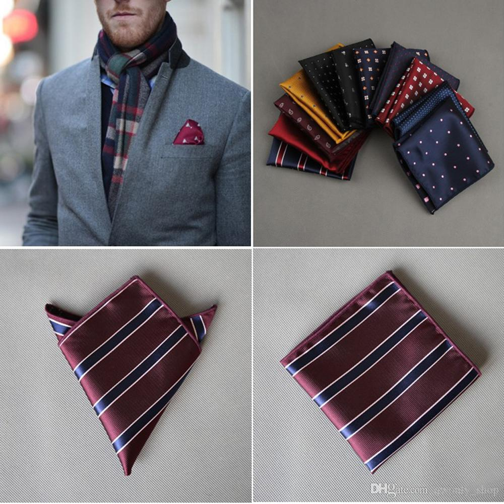 New men/'s polyester solid burgundy hankie pocket square formal wedding party