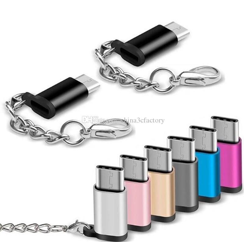 مايكرو USB إلى TypeC محول سبيكة حالة الروبوت مايكرو USB موصل لكتابة C لهواوي ل Xiaomi مع محولات المفاتيح البسيطة