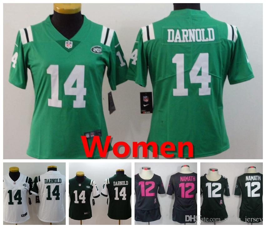 reputable site 86a45 8b11f 2019 2019 Women 14 Sam Darnold New York Jersey Jets Football Jersey 100%  Stitched Embroidery Jets 12 Joe Namath Color Rush Women Football Shirt From  ...
