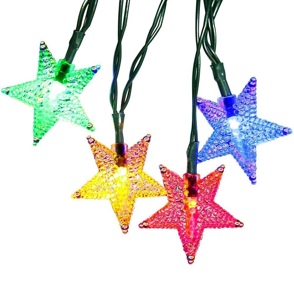 Holiday light 20/30/50/100 LED Solar String rgb star Fairy Lights Waterproof Outdoor Decorated Garden Home Decoration Wholesale Dropship