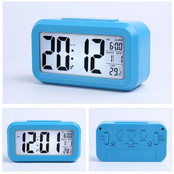 Smart Sensor Nightlight Led Digital Alarm Clock Electronics With Temperature Thermometer Calendar Silent Desk Table Clock Bedside Wake Up Led Grow Led Headlight From Xmyangtan 12 43 Dhgate Com