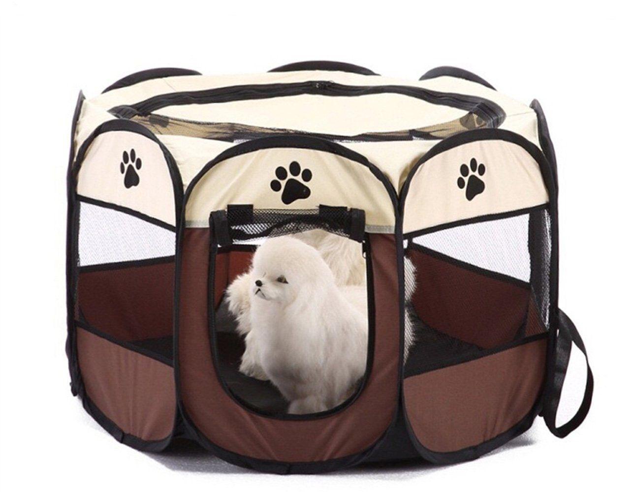 애완 동물 개 고양이 휴대용 접이식 접이식 애완 동물 캐리어 텐트 패브릭 하우스 Playpen 상자 케이지 개집 텐트 야외 실내 울타리 집