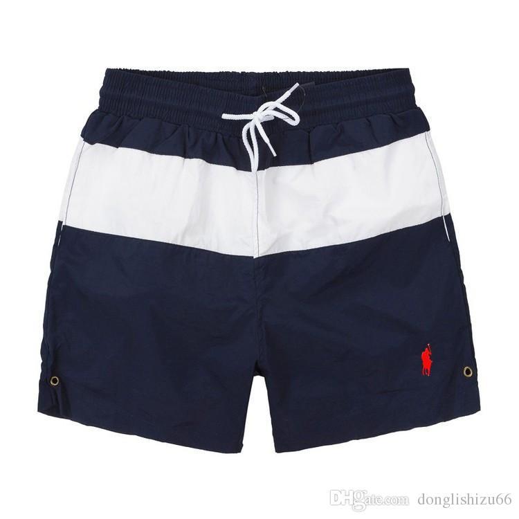 2018 New Board Shorts polos Mens Summer Beach Shorts Pantalon Maillot de bain de haute qualité Bermuda Homme Lettre Surf Life Hommes Swim High Quali