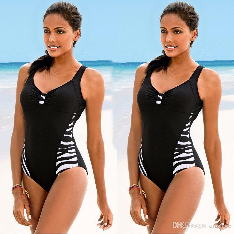 2017 Sexy Plus Size One Piece Swimsuit Women Swimwear Body Vendaje de corte de playa traje de baño de verano Swim Monokini Swimsuit