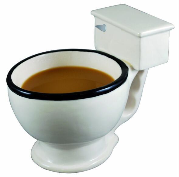 Taza divertida del retrete Taza de la taza de la taza de café del agua de las tazas divertidas Regalo creativo para los amantes o el amigo
