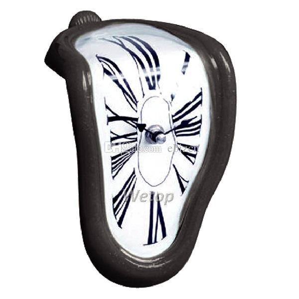 ذوبان مشوهة ساعة الحائط السريالية سلفادور دالي نمط ساعة الحائط مذهلة الرئيسية الديكور هدية 4 ألوان شحن مجاني