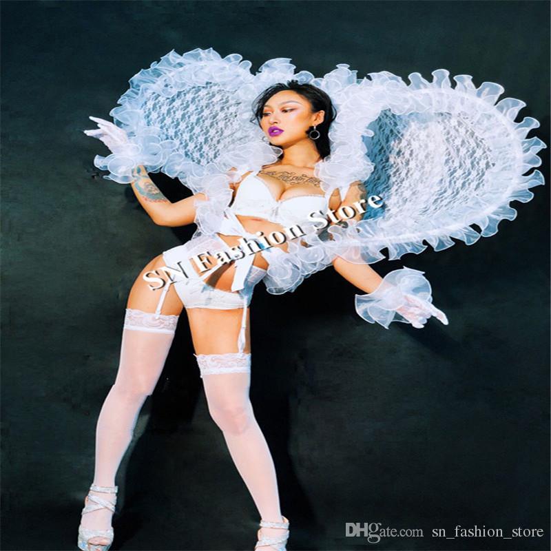 DC28 Ballroom dance costumes party stage show wears catwalk singer dresses sexy dj clothe club bar performance ktv dj led supply nightclub