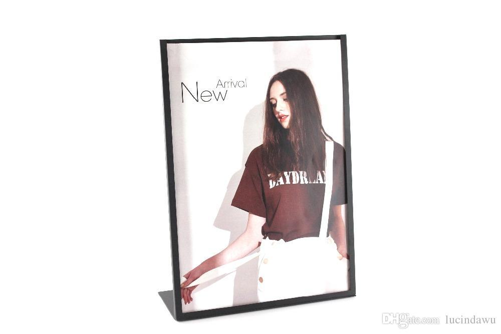 A3 Black white L metal photo frame poster frame advertising KT poster holder stand table promotion sign holder desk poster display rack