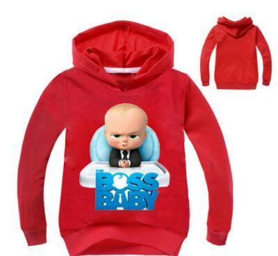 Wholesale- 2018 Fashion new Bossbaby Sweatshirts Big Boys Girls Pullover Hoodie Warm Tops Sweateshirts Teenager Children Kids Hoodies