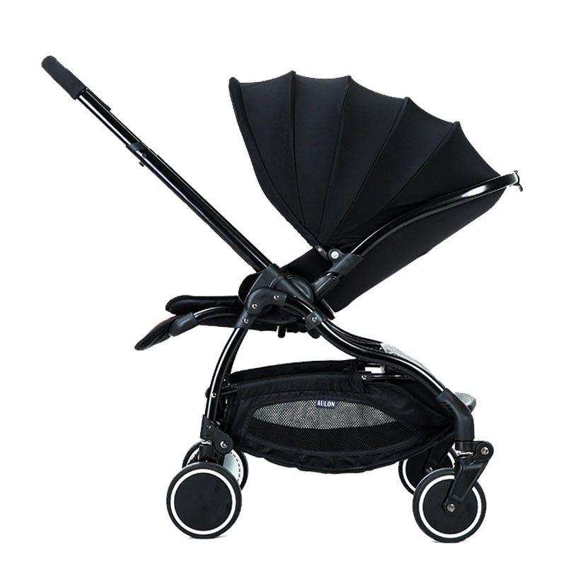 Aulon Recounts Baby Stroller Umbrella Coche Luz 4Runner Suspensión Plegable Niño Bebé Coche
