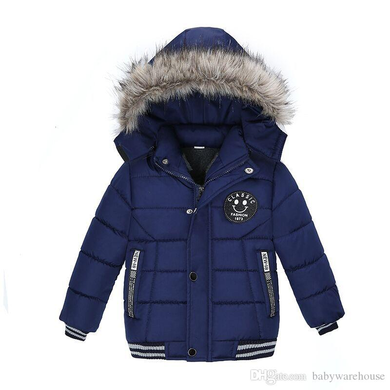 Brand New Baby Boy Jackets 2018 Autumn Winter Kids Boys Hooded Coats Children Warm Thick Jacket Toddler Boys Clothes Outerwear 2-5Years