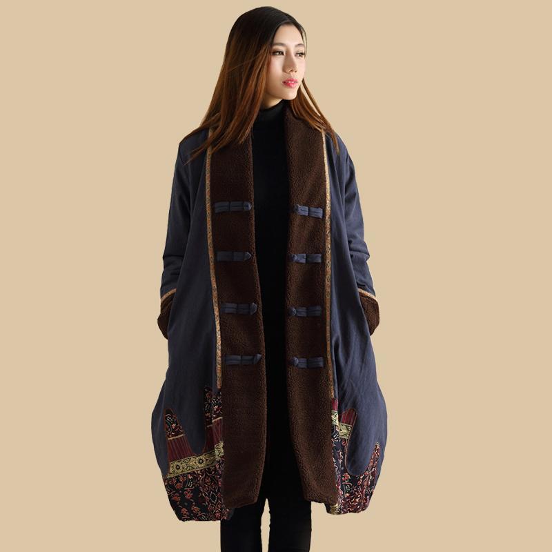 Jaqueta Frauen Von Großhandel Mantel Jacke Dames Lzjn 2018 Stil Patchwork Padded Winterjas Ethnische Wintermantel Herbst Chinesischen Kaban Parka EI2HD9