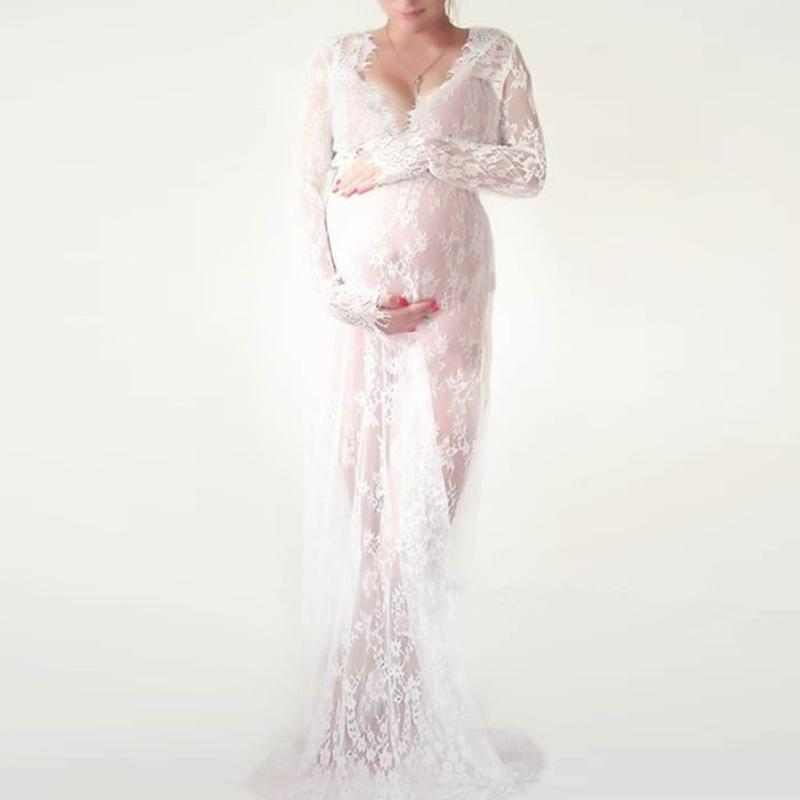 2021 Maternity Dresses Photography Props White Black Lace Fancy Pregnant Dress Maxi Pregnancy Dress For Photo Shoot M 4xl From Orchidor 19 71 Dhgate Com