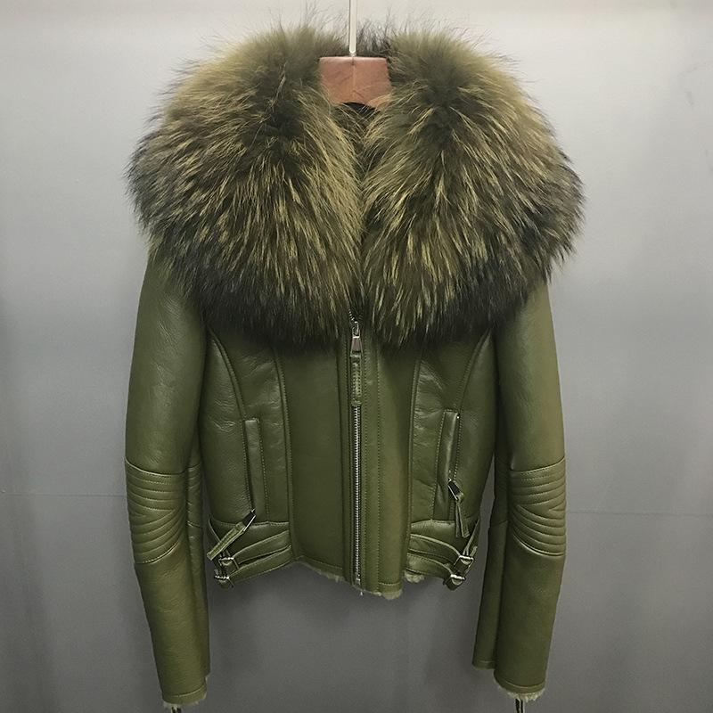 2018 Novo Curto Parka Casaco de Inverno Mulheres Natural De Pele Real Double-faced Fur Genuíno Couro Cashmere Casaco Grosso Parkas Moda