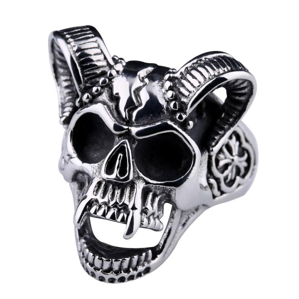 6 pcs New European american vintage hip-hop criativo garra anel titanium aço dominador crânio anel dos homens de jóias