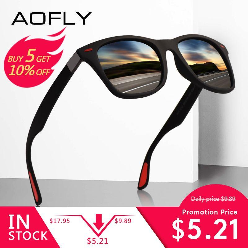BRAND DESIGN Classic Polarized Sunglasses Men Women Driving Square Frame Sun