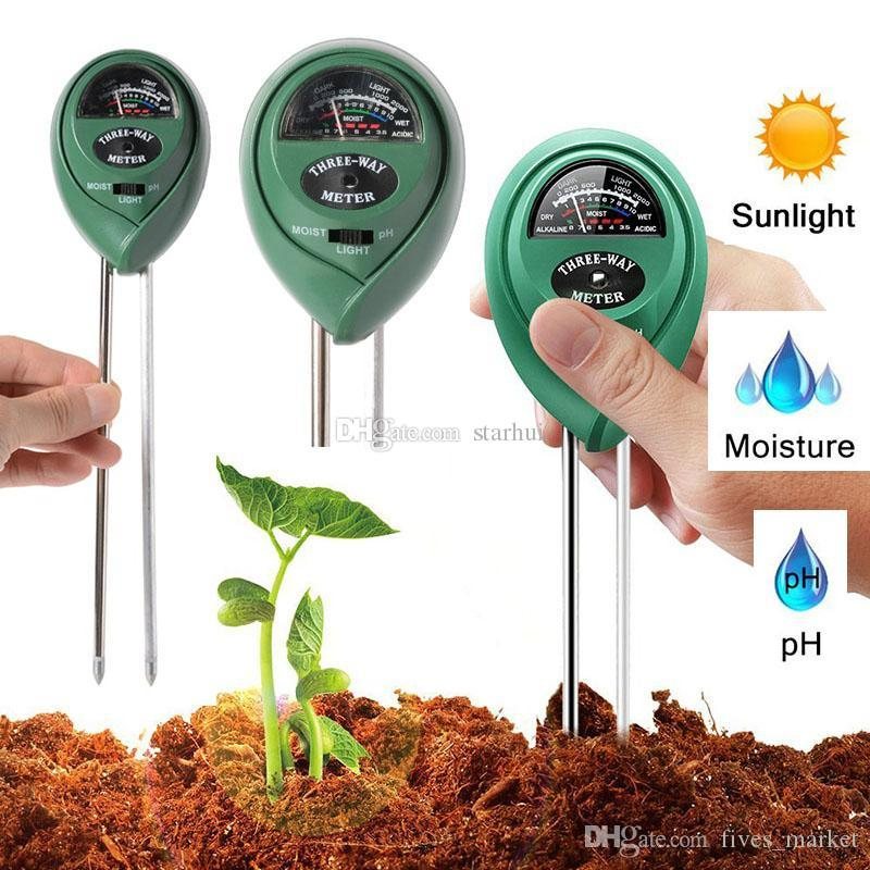 3 in 1 Soil Moisture Meter Soil Tester Humidity / Light / PH Value Garden Lawn Plant Pot Sensor Tool Have In Stock WX9-31