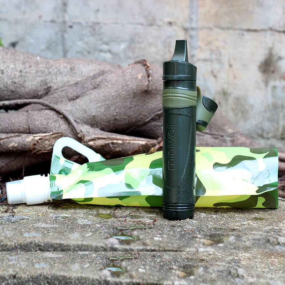 Filtro de agua de paja miniwell L600 + Reemplazos de filtro L600 (Incluye Rebanada de PP, Filtro de carbón y Filtro de ultrafiltración)