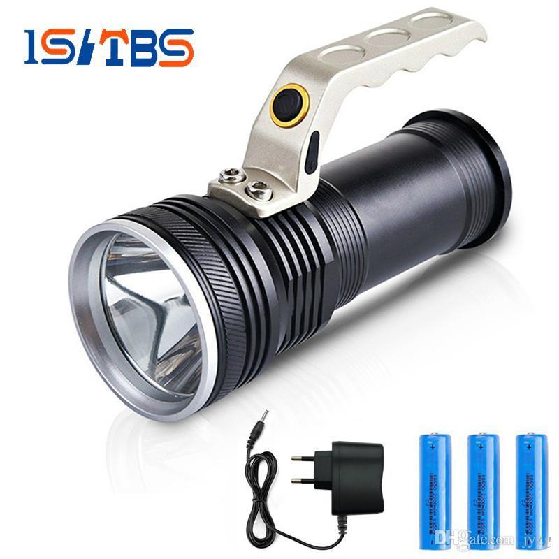 Toptan Şarj Edilebilir Parlak LED el feneri CREE-Q5 3000 Lümen meşale 3 aydınlatma modları Güçlü Kamp Avcılık kullanımı 2x18650 pil