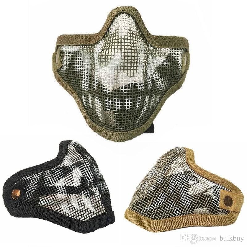 Tactical Ghost Mesh Airsoft Maske Paintball Halbgesicht Schutzstreik-Stil