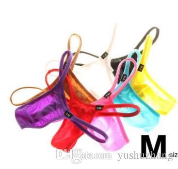 venta al por mayor 3pcs / lot Thin transpirable apretados ropa interior de hombre G String hombre Briefs Shorts Bikini Gay T pantalones (12)