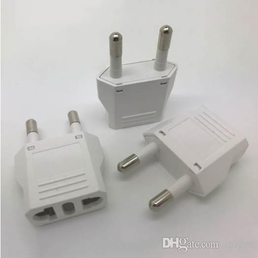 Alta Qualidade New EUA EUA para a UE EURO Europa Travel Power Plug Adapter Converter Charger para EUA conversor Branco