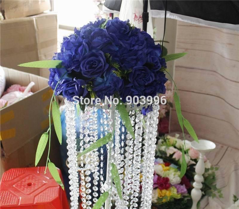 2019 Spr Royal Blue Table Centerpiece Flower Ball Wedding Arch