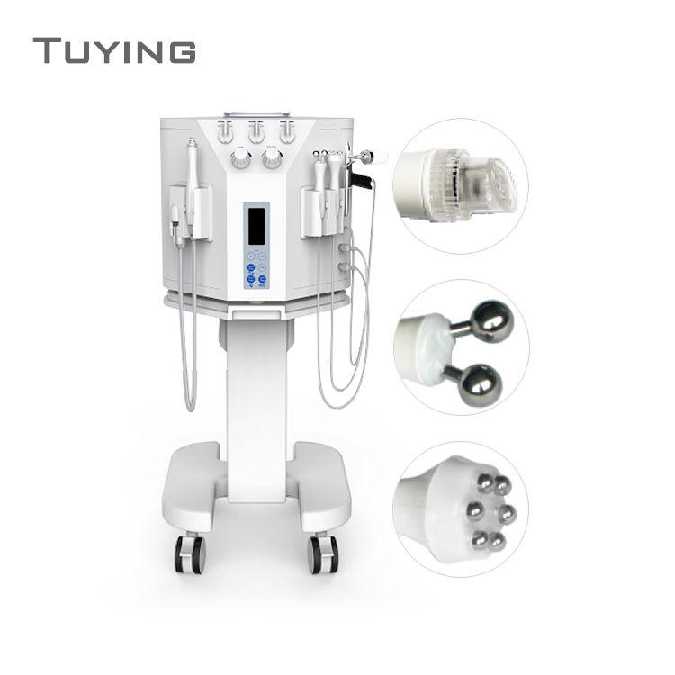 Многофункциональный 4 в 1 био ионофорез аква-пилинг раствор спа-машина гидра-лицо машина кислородный распылитель уход за кожей лица для сало