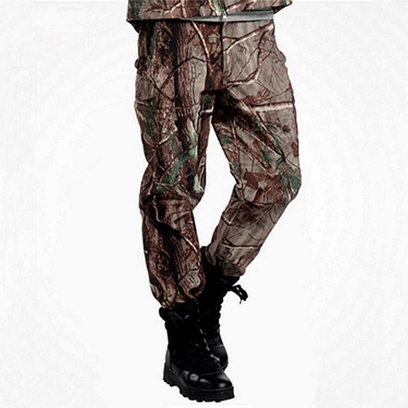 Lurker Shark Skin Military Tactical штанах Мужчины Теплый джунгли Кемпинг Climbing Плоский Лакокрасочные водонепроницаемый длинные брюки ветрозащитный Camo