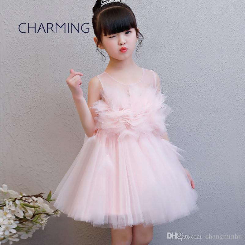 big discount best sneakers low priced Childrens Pink Dresses Gown Dresses For Kids Big Girl Dresses Opening  Season Graduation Tutu Dress Piano Performance Bridal Shoes Uk Cute Dresses  For ...