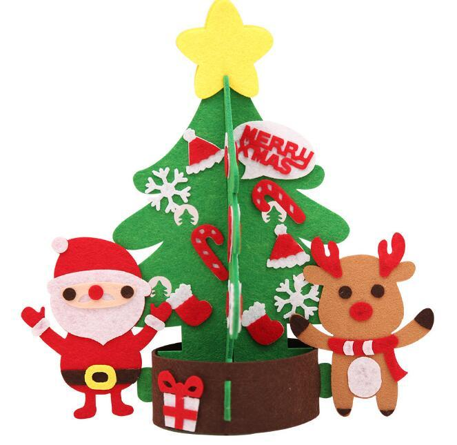 Arbre de Noël bricolage avec décorations porte Tenture murale enfants cadeaux Nouvel an navidad décorations de Noël pour la maison