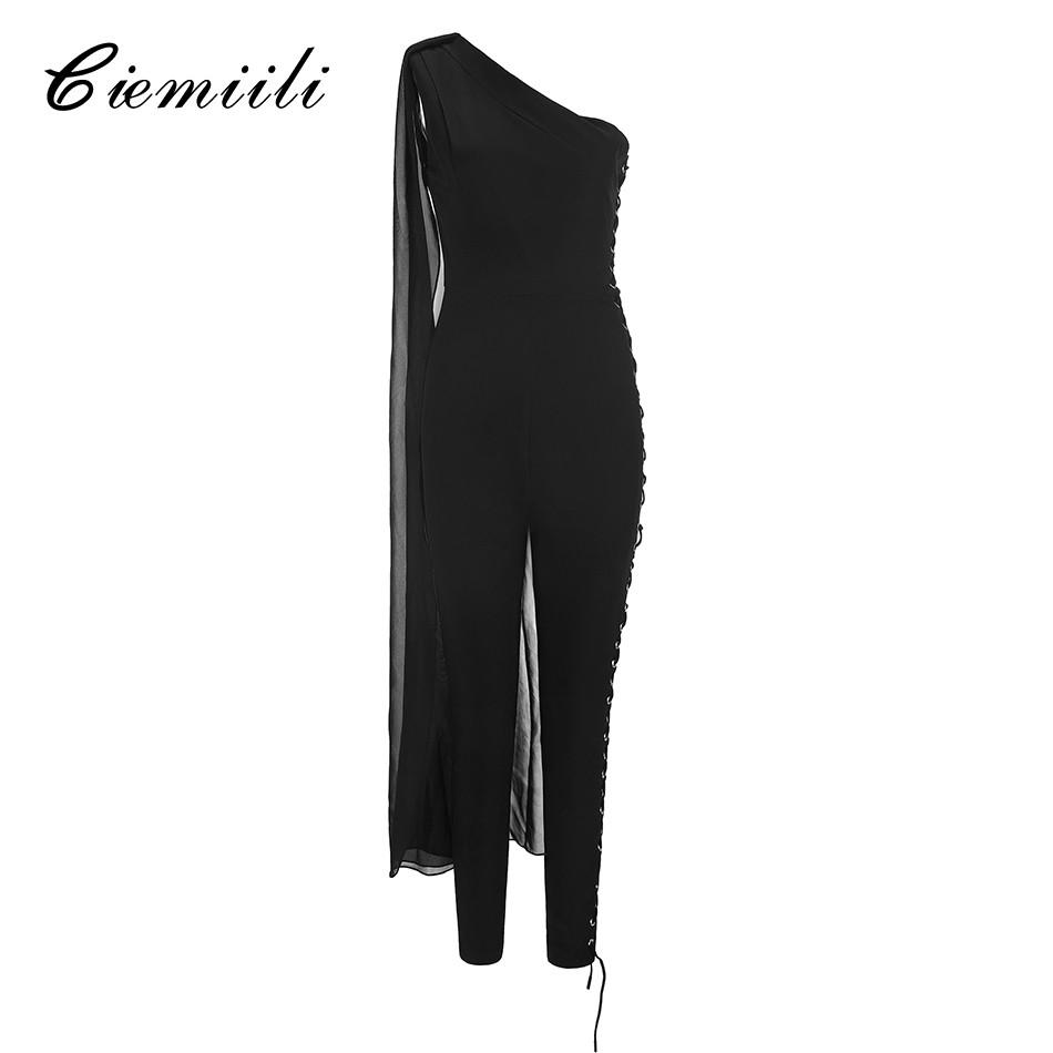 2018 Women Bandage Jumpsuits Bodycon Runway Evening Party Bodysuits Playsuits Fitted Sexy Bodycon Sleeveless Clothes