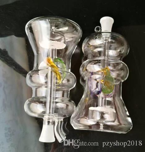 Nucleo di sabbia color alieno Accessori bong in vetro di narghilè, Pipa in vetro colorato mini tubi multi-colori.