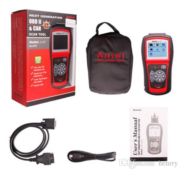 10PCS AL 519 Autel AutoLink AL519 OBD 2 CAN Scanner Tool Next Generation OBDII And CAN Scan Tool AutoLink AL519